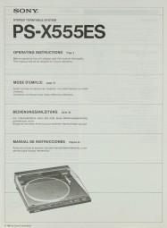 Sony PS-X 555 ES Bedienungsanleitung