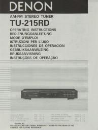 Denon TU-215 RD Bedienungsanleitung