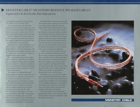 Monster Cable Power Line / Navajo White etc. Prospekt / Katalog