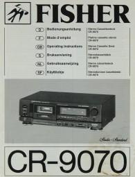 Fisher CR-9070 Bedienungsanleitung
