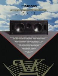 Klipsch KV 3 Prospekt / Katalog