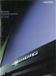 Grundig Lieferübersicht 1997/1998 Prospekt / Katalog