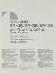 Nakamichi SR-4 E / SR-3 E / SR-2 E / SR-4 / SR-3 / SR-2 Bedienungsanleitung