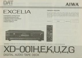 Aiwa XD-001 H/E/K/U/Z/G Bedienungsanleitung