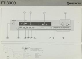 Hitachi FT-8000 Bedienungsanleitung