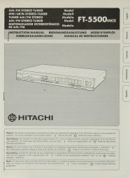 Hitachi FT-5500 MK II Bedienungsanleitung
