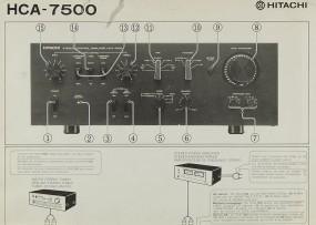 Hitachi HCA-7500 Bedienungsanleitung