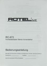 Rotel RC-972 Bedienungsanleitung