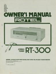 Rotel RT-300 Bedienungsanleitung