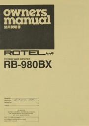 Rotel RB-980 BX Bedienungsanleitung