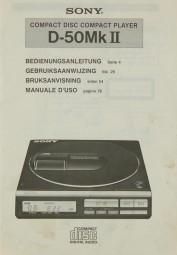 Sony D-50 MK II Bedienungsanleitung