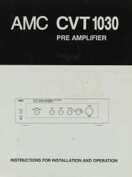 AMC CVT 1030 Bedienungsanleitung