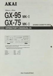 Akai GX-95 MK II / GX-75 MK II Bedienungsanleitung