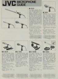 JVC Microphone Guide Prospekt / Katalog