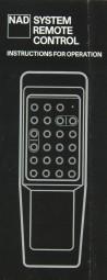 NAD System Remote Control Bedienungsanleitung