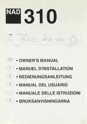 NAD 310 Bedienungsanleitung