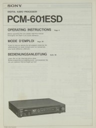 Sony PCM 601 ESD Bedienungsanleitung
