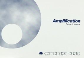 Cambridge Amplification Bedienungsanleitung