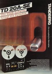 Tandberg TD 20 A-SE Prospekt / Katalog