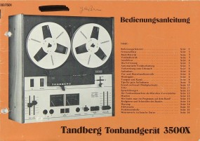 Tandberg 3500 X Bedienungsanleitung