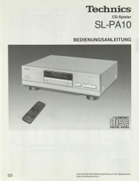 Technics SL-PA 10 Bedienungsanleitung