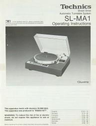 Technics SL-MA 1 Bedienungsanleitung