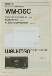 Sony WM-D 6 C Bedienungsanleitung