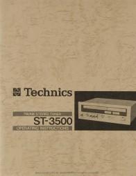 Technics ST-3500 Bedienungsanleitung