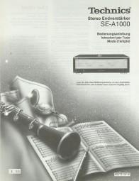 Technics SE-A 1000 Bedienungsanleitung