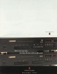 Parasound Lieferübersicht Herbst 1996 Prospekt / Katalog