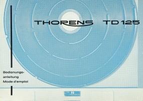 Thorens TD 125 Bedienungsanleitung