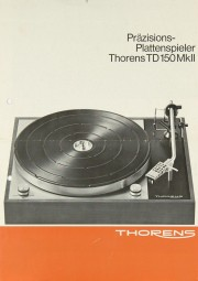 Thorens TD 150 MK II Prospekt / Katalog