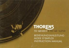 Thorens TD 160 MK II / TD 160 Super Bedienungsanleitung
