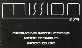 Mission / Cyrus 774 Bedienungsanleitung