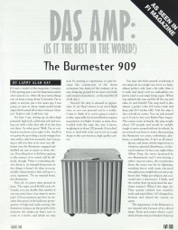 Burmester 909 Prospekt / Katalog