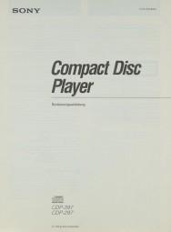 Sony CDP-397 / CDP-297 Bedienungsanleitung