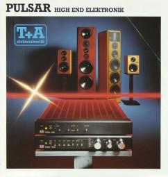 T + A PULSAR Prospekt / Katalog