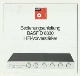 BASF D 6330 Bedienungsanleitung