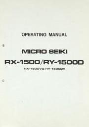 Micro Seiki RX-1500 / RY-1500 D Bedienungsanleitung