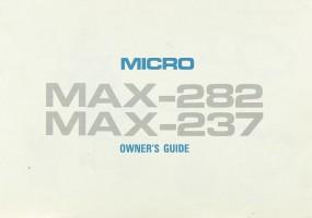 Micro Seiki MAX-282 / MAX-237 Bedienungsanleitung