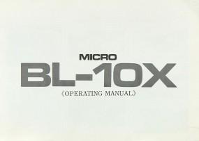 Micro Seiki BL-10 X Bedienungsanleitung
