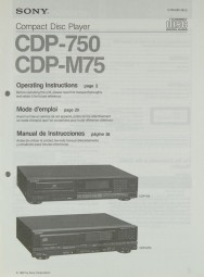Sony CDP-750 / CDP-M 75 Bedienungsanleitung