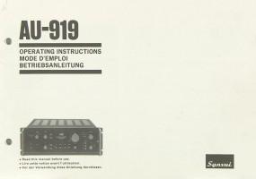 Sansui AU-919 Bedienungsanleitung