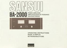Sansui BA-2000 Bedienungsanleitung