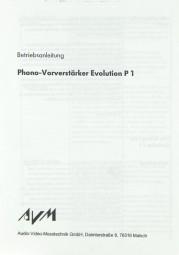 AVM Evolution P 1 Bedienungsanleitung