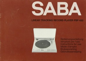 Saba PSP 450 Bedienungsanleitung