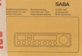 Saba 9140 Electronic Bedienungsanleitung