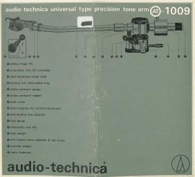 Audio-Technica AT-1009 Bedienungsanleitung