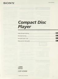 Sony CDP-X 5000 Bedienungsanleitung