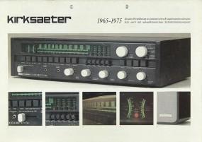 Kirksaeter 1965 - 1975 Prospekt / Katalog